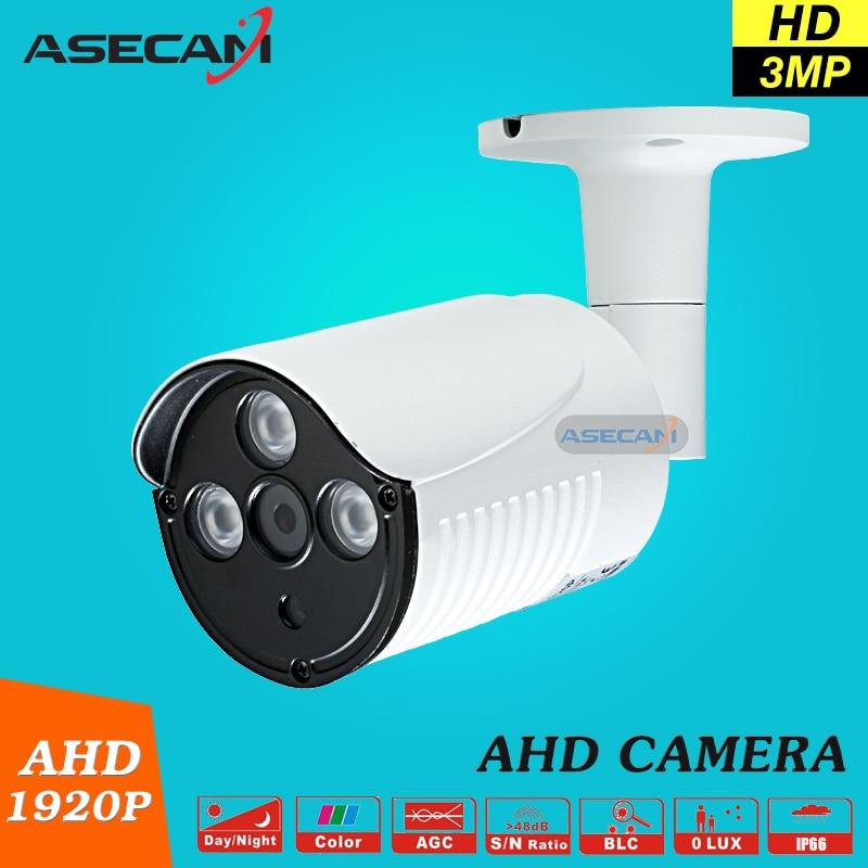 imágenes para Nueva Llegada de Super 3MP HD 1920 P AHD Cámara de Seguridad Bala CCTV Vigilancia Al Aire Libre Impermeable 3 * Matriz De Metal Blanco infrarrojos