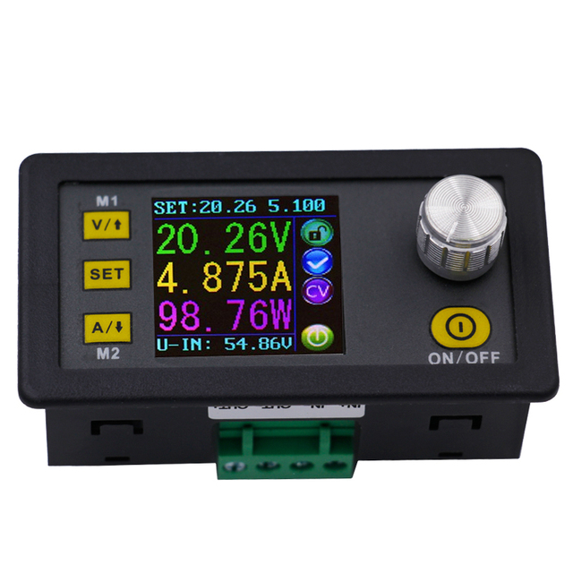 Dps5005 display lcd digital, tensão constante, controle atual, programável, módulo de fonte de alimentação, amperímetro, voltímetro, 21% de desconto