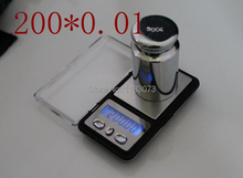 Mini 200g 0.01g Electronic Jewelry Scales LCD Digital Pocket Gem Diamond Weigh Scale Gram Weight Balance G/OZ/CT/TL With Tare