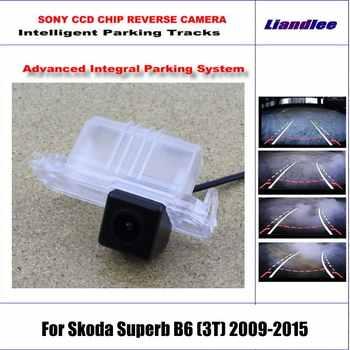 Intelligentized Rückfahr Kamera Für Skoda Superb B6 2009-2015 Rückansicht Back Up/580 TV Linien Dynamische Beratung tracks