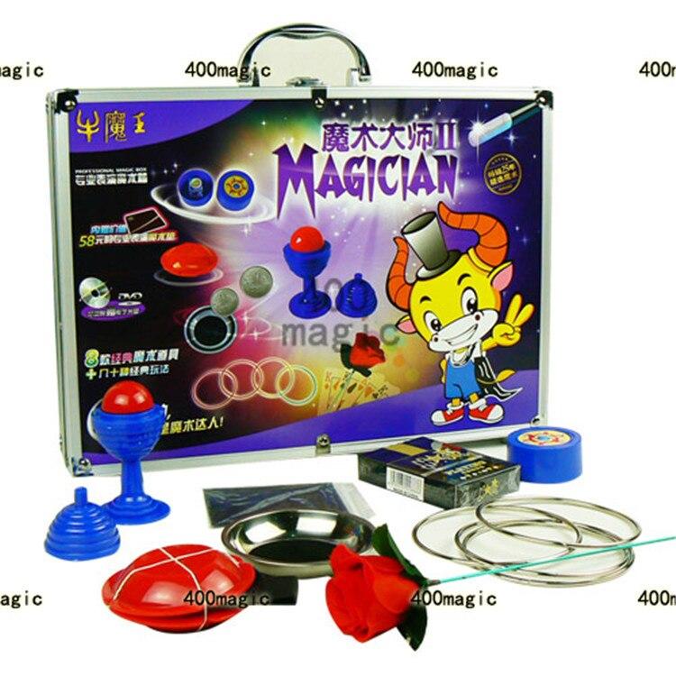 Tour de magie jouets pour enfants cadeau 8 accessoires de type avec valise de magicien fermer rue enfants partie spectacle scène comédie
