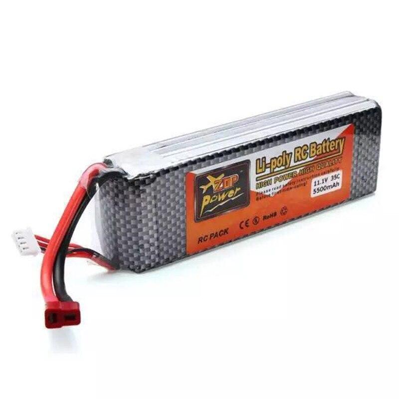 Batterie RC Lipo 5500 Mah 11.1 V 3 S 35C avec fiche XT60 T adaptée aux véhicules jouets télécommandés Batteria Lipo 3 S 11.1 V 5500 Mah