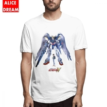 Unisex T shirt Gundam Wing Zero Tee Shirt Unique Design T Shirt Crewneck S-6XL Homme Tee Shirt 3D Print t shirt casual cowboy bebop tee shirt unique design camiseta round collar s 6xl tee birthday gift t shirt 3d print