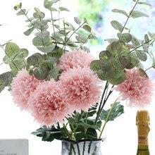 Klonca Beautiful Natural Silk Flower 47cm 20pcs/lot Artificial Chrysanthemum Fake for Home Wedding Decoration