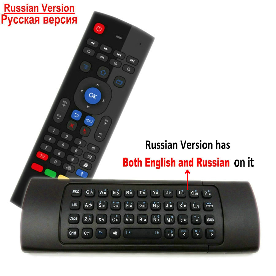 Image 4 - TK3 2.4G Wireless Fly Air Mouse Keyboard Russian English 44 IR Learning Voice for Android Smart TV Box PK MX3 G30 Remote controlRemote Controls   - AliExpress
