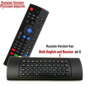 Image 4 - TK3 2.4G Wireless Fly Air Mouse Tastiera Russa Inglese 44 IR di Apprendimento Vocale per Android Smart TV Box PK MX3 G30 A Distanza di controllo
