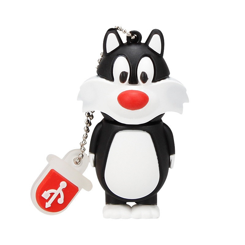 XIWANG 100 Real Capacity Mini Cute Rabbit Flash Drive High Speed 2 0 4GB 8GB 16GB 32GB 64GB USB U Disk pendrive Gift Lanyard in USB Flash Drives from Computer Office