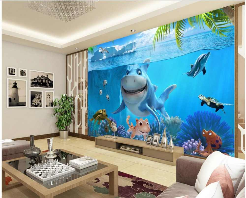 Benutzerdefinierte 3d Tapete Unterwasserwelt Kinderzimmer Hintergrund Benutzerdefinierte 3d Fototapete Wohnzimmer 3d Wallpaper Living 3d Wallpaper 3d Wallpaperphoto Wallpaper Aliexpress