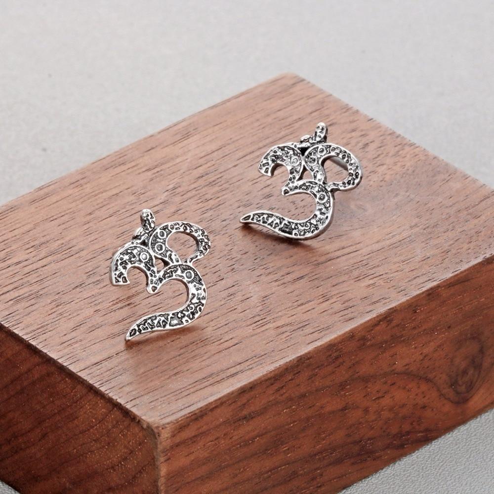 Women's Om Stud Earrings 1
