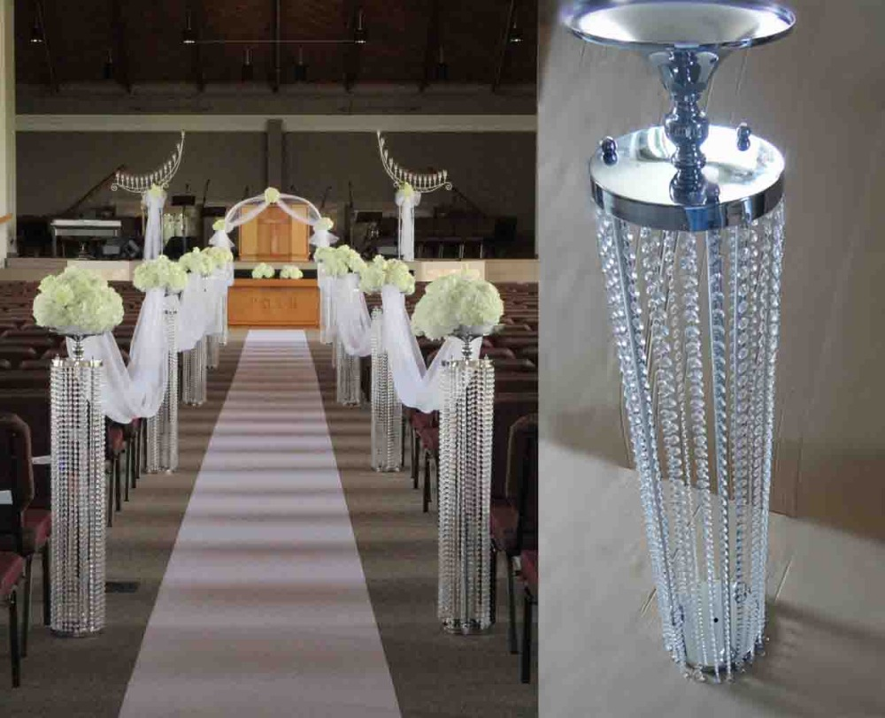 120cmh20cmw free shipping aisle crystal wedding road lead 120cmh20cmw free shipping aisle crystal wedding road lead silver flower stand wedding decoration props 10pcslot in vases from home garden on arubaitofo Images