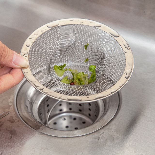 new home kitchen sink drain strainer stainless steel mesh basket strainer dec14 - Kitchen Sink Drain Strainer