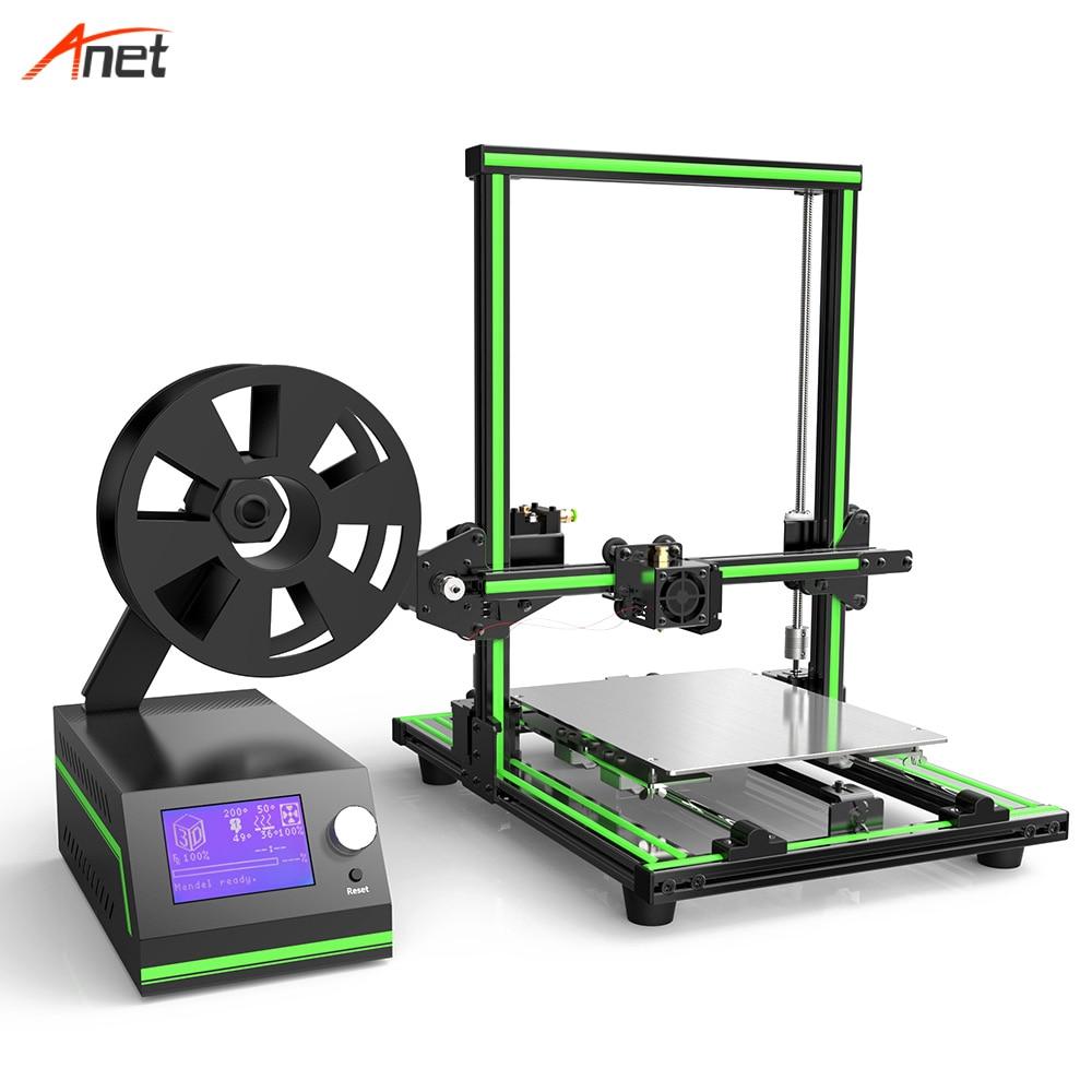 Anet E10 Large LCD Screen 3d House Printer Digital Printer Aluminium 0 4mm Extruder Dia Impresora
