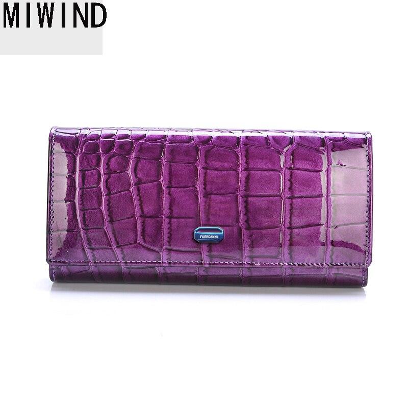 MIWIND Fashion Women Wallet Genuine Leather Purse Female Long Design 2017 Long Large Capacity Women Wallets Designer TSD1224