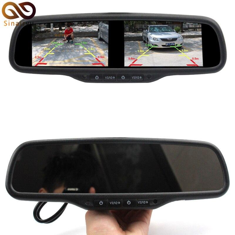 HD 800*480 Dual Screen Car Monitor OEM Mirror Monitor 4.3Inch Brightness Adjustment 4AV With Special Bracket For Hyundai Kia VW dreambox 800 hd крайот