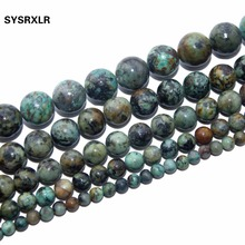 Wholesale Natural Stone African Turquoises Round Loose Beads For Jewelry Making DIY