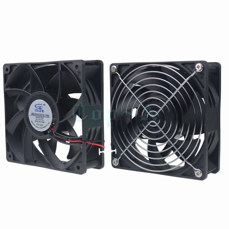 Gdstime 1 Piece Pith Fan Grills Protect Net 12cm 120mmx38mm Ball-bearing Cooling Fan 24v 4.72 inch CPU Cooler Cith Large Wind gdstime 5pcs 12038 dc 12v 120mm dual ball cooling fan with iron net high pressure and high temperature 2pin 120mmx38mm 12cm