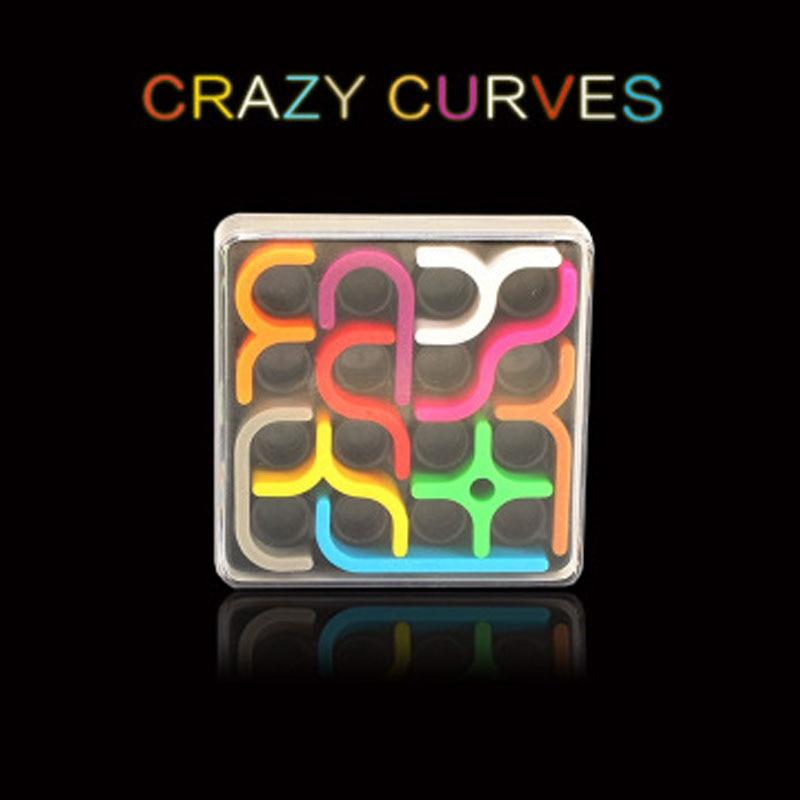 Magic Cube Crazy Curves 3D Puzzles IQ Link Creative Kids Puzzles Toys Children's Puzzles Toys Child Grownups Brain Teaser