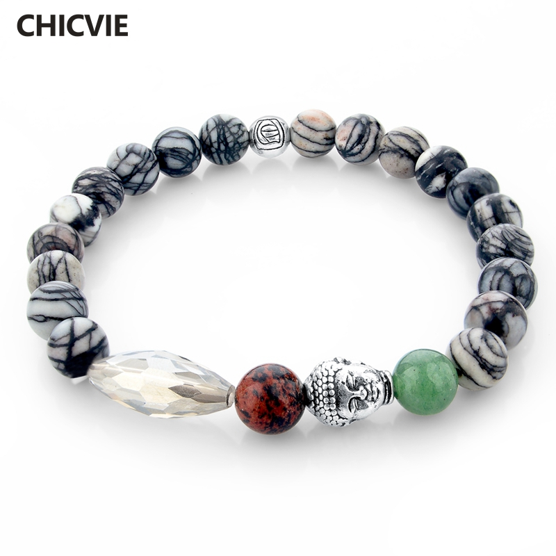 Купить женские и мужские буддийские браслеты chicvie из натурального