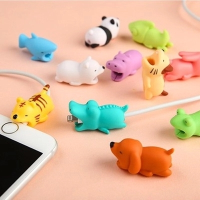 Cable Protector for Mobile Phone Cable Line Head Socket Cartoon Animal Cable Winder Universal With Retail Package
