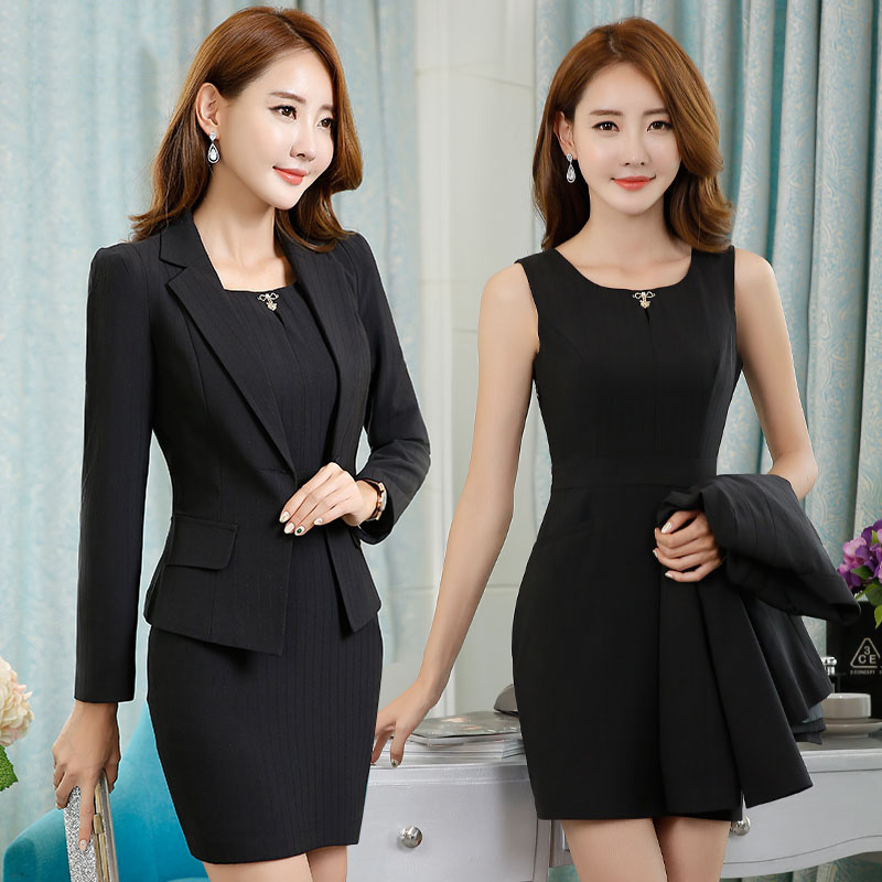 S-3XL New Women's Dress Suits Summer 2017 Spring Elegant Solid Slim Formal...