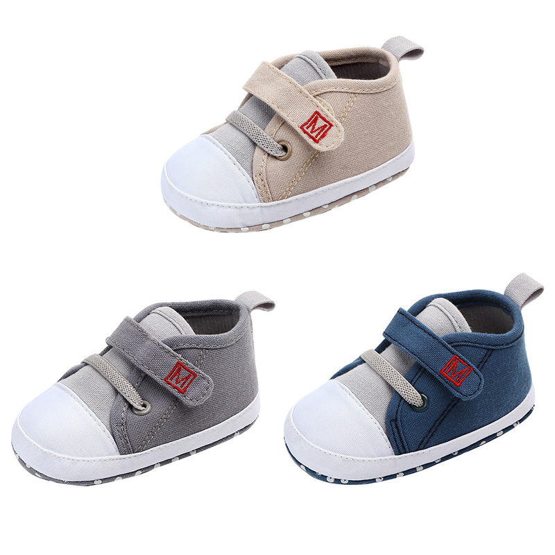 Baby Boys Shoes Breathable Patchwork Baby Boys Sneakers Toddler Soft Soled Embroidery Alphabet First Walkers