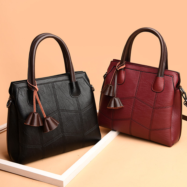 Luxury Handbags Women Bags Designer Genuine Leather Handbags Sac A Main Women Shoulder Crossbody Messenger Bag Casual Tote Sac 2