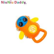 Niuniu Daddy Bayi Kereta Dorong Rattle Bermain Mainan Teether Dengan Suara Lucu Bayi Mainan Kerincingan Mobil Kartun Bell Mainan Plastik Mainan