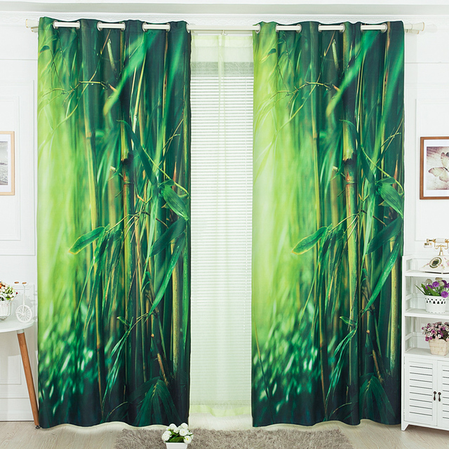 Pastoral Printed Free 3d Curtain For Living Room Bamboo Curtains Bedroom  Curtains For Girls Voile Curtain