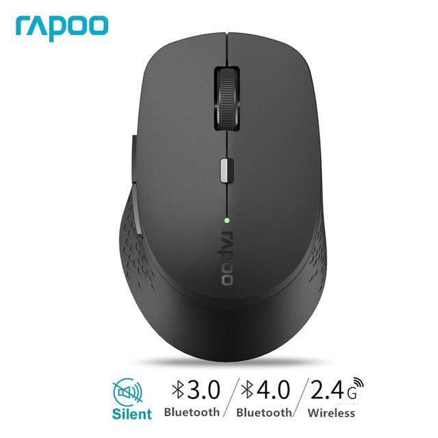 Poo o M300 기존 멀티 모드 무음 무선 마우스, 1600 인치 당 점 Bluetooth 3.0/4.0 RF 2.4GHz, 3 개의 장치 연결 용