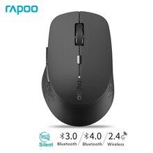 Rapoo M300 ratón inalámbrico silencioso multimodo Original con 1600DPI Bluetooth 3,0/4,0 RF 2,4 GHz para conexión de tres dispositivos