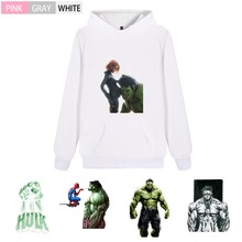 Marvel Avengers Hulk Graffiti Men/woman Fashion Fleecy Hooded sweatshirt Kangaroo Pocket Casual Teen hoodie A193291