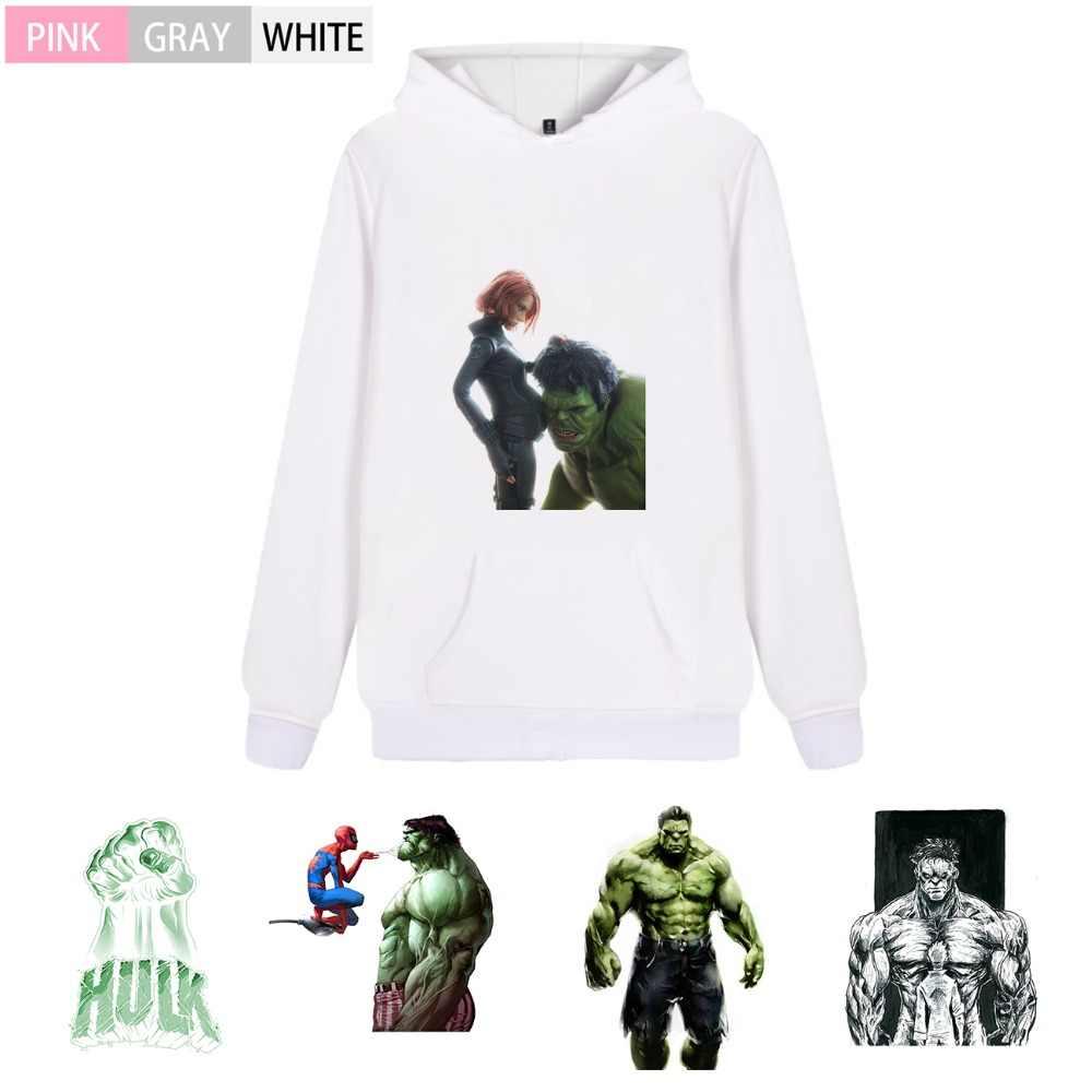 Marvel Avengers Hulk Graffiti Men/woman Fashion Fleecy Hooded sweatshirt Kangaroo Pocket Casual Teen hoodie A193291