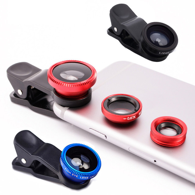 For Motorola Moto G G2 2nd 3rd G3 G4 E E2 X X2 Z Play DROID Turbo Maxx Fisheye Wide Angle Macro Lenses 3 in 1 Mobile Phone Lens