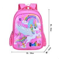 Bonito dos desenhos animados unicórnio mochila para meninos crianças saco de escola para adolescente menina ortopédica princesa mochila infantil|Mochilas escolares| |  -