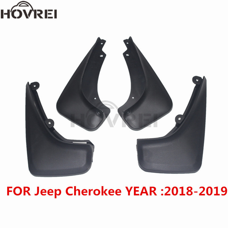 set Molded car Mud Flaps For JEEP Cherokee 2019 front rear mudflaps Splash Guards mudguards fender
