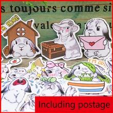 35 pcs rabbit vintage personalized scrapbook Stickers scrapbooking material sticker happy planner decoration craft