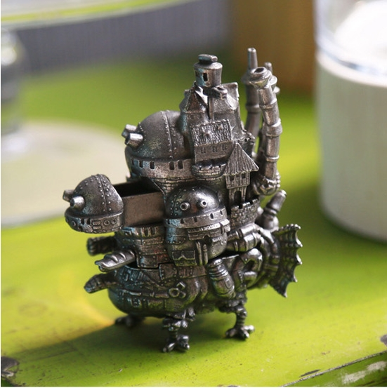 Legal frete grátis miyazaki hayao anime howl castelo em movimento modelo de metal 3d edição limitada decoração bonecas jogo crianças brinquedo presente