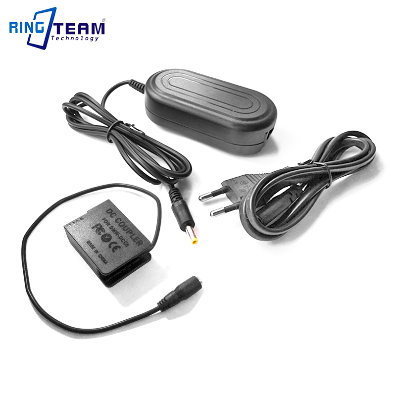 Power AC Adapter Kit DMW-AC8 + DMW-DCC8 (DMW-BLC12) for Panasonic Lumix GX8 FZ1000 FZ300 FZ200 G7 G6 G5 GH2 GH2S G80 G85 Cameras