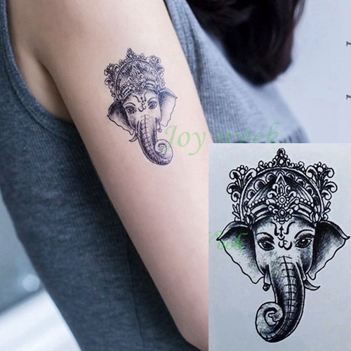 Elephant ganesh temporary tattoo sticker for Temporary elephant tattoo
