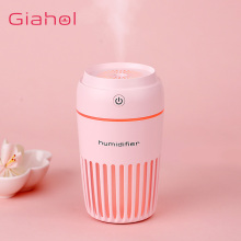 GIAHOL 300ML Ultrasonic Space Time Air Humidifier with LED Night Light Mini Portable freshener Aroma Diffuser for home car
