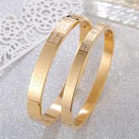 Bracelet en acier inoxydable à la mode Bracelet pour femmes hommes or jaune argent or Rose Bracelets fille amant mode bijoux accessoire