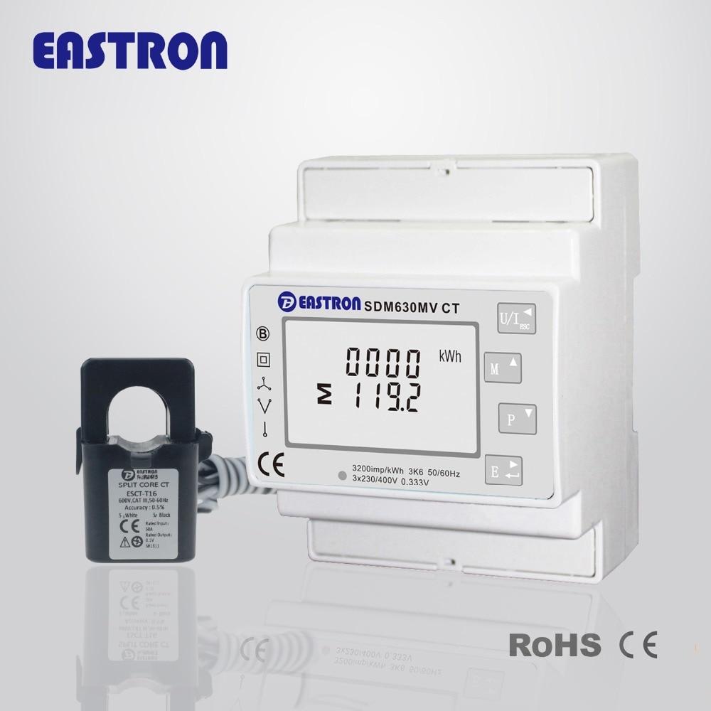 SDM630MV CT с 3 шт TU16 100A/333mV вход, сенсорные кнопки, RS485 связь