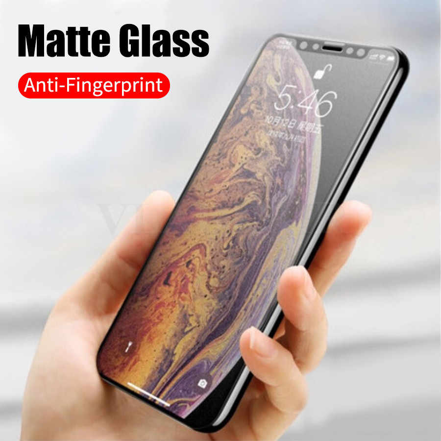 Matte Frosted No Fingerprint Premium Tempered Glass for iPhone Xs Max XR 6 6S 7 8 Plus Screen Protector Protective Film