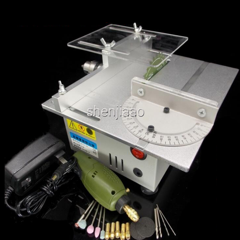 Multifunctional Mini Table Hand Saw Woodworking Lathe Spindle Electric Drill Electric Grinder Polishing Door Model Slicing Saw 1pcs multifunctional mini bench lathe machine electric grinder polisher drill saw tool 350w 10000 r min