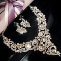 New Arrival bridal Jewelry Sets Luxury Bridal Wedding Sets Necklace earrings Women Wedding Dress Accessories Crystal Hair