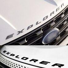 2017 Car Styling Delantero O Trasero Cubierta de la Etiqueta Engomada Del Emblema Del Coche cartas de Estilo Deportivo para Ford Explorer 3D Cartas Sticker DIY