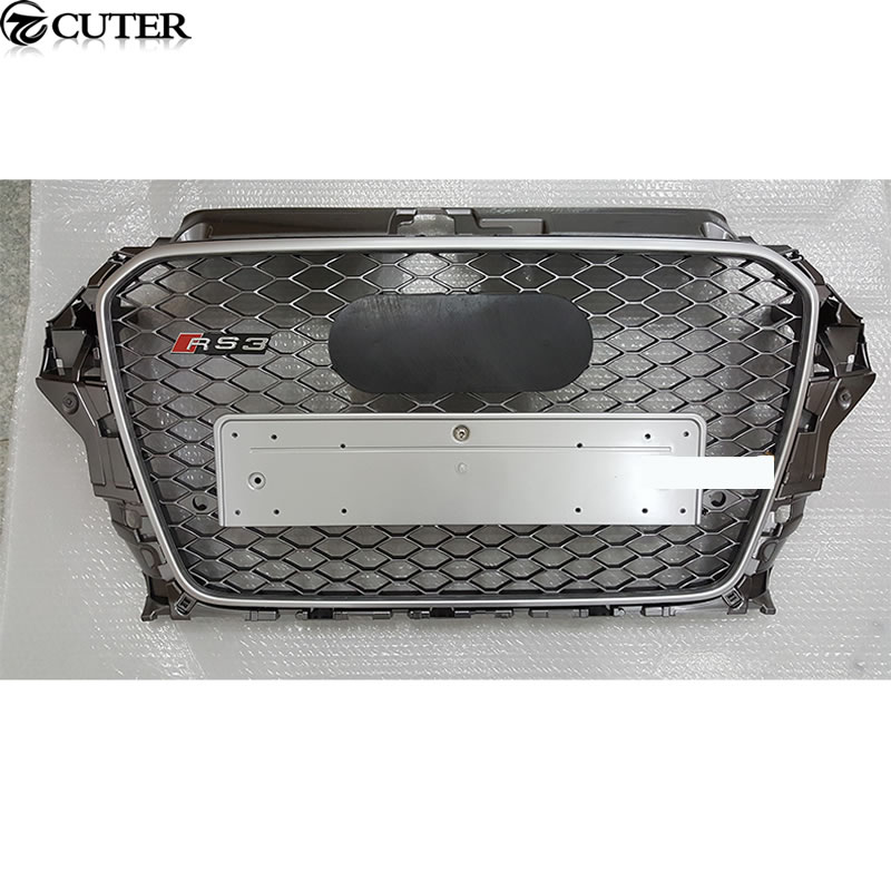A3 RS3 Caviar color Auto Racing Grills Front Bumper mesh Grills For audi A3 RS3 2013-2015