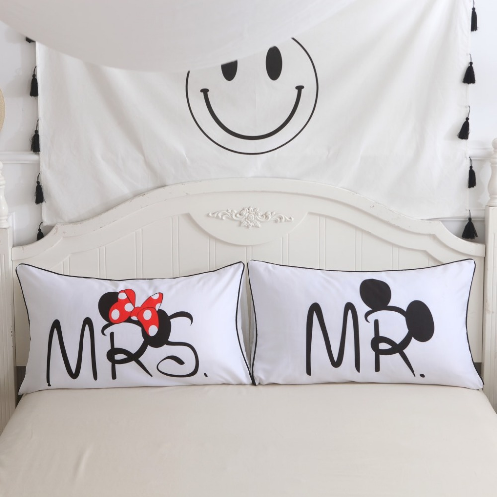 Kupit Domashnij Tekstil Mickey Mouse Minnie Mr Mrs Pillowcases