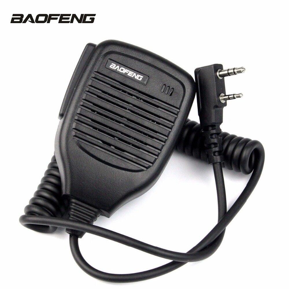 Pratico Spalla Portatile Speaker Mic 2 Pin Doppio Push-To-Talk (PTT) microfono per TYT HYT BaoFeng KENWOOD 5R F8 82 Serie