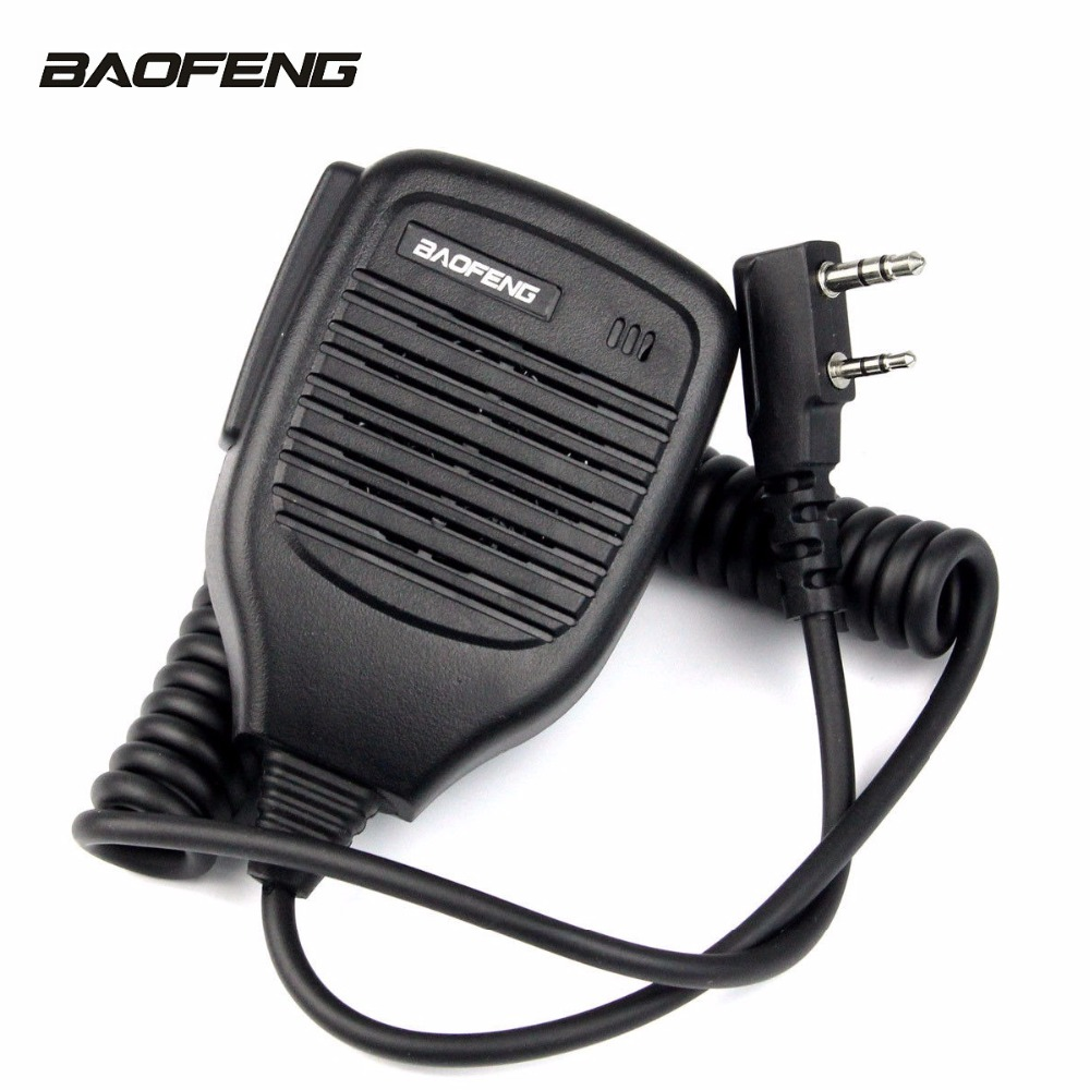 Pratique Épaule De Poche Haut-Parleur Micro 2 Broches Double Push-To-Talk (PTT) Microphone pour TYT HYT BaoFeng KENWOOD 5R F8 82 Série